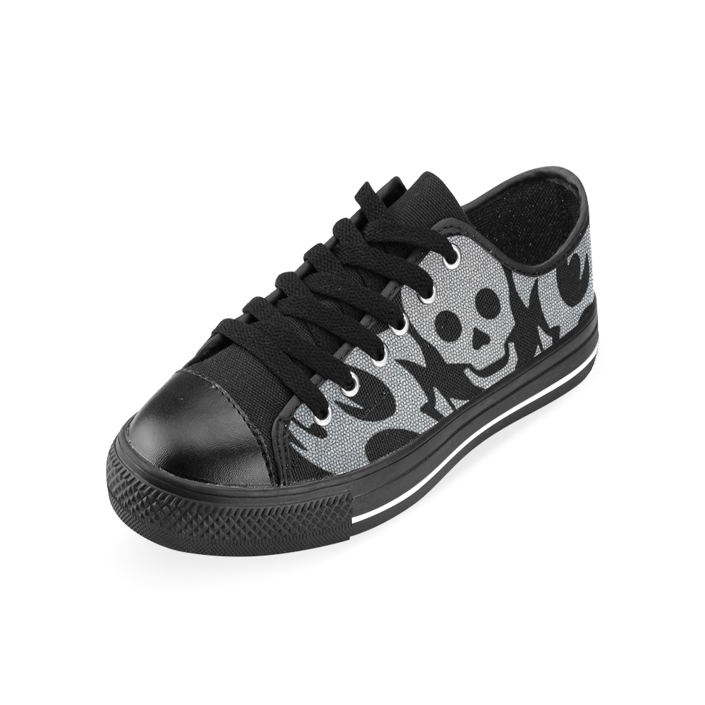 SKULL SILVER LUXURY Men's Classic Canvas Shoes (Model 018)