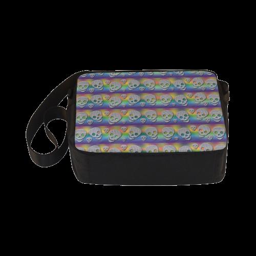 SKULLS MULTICOLOR Classic Cross-body Nylon Bags (Model 1632)