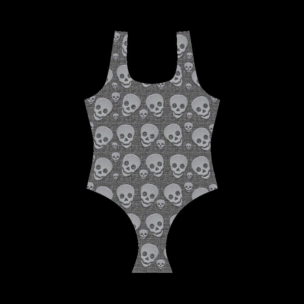 SKULLS REVOLUTION Vest One Piece Swimsuit (Model S04)