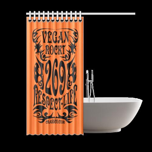 "VEGAN ROCKT BATH Shower Curtain 60""x72"""