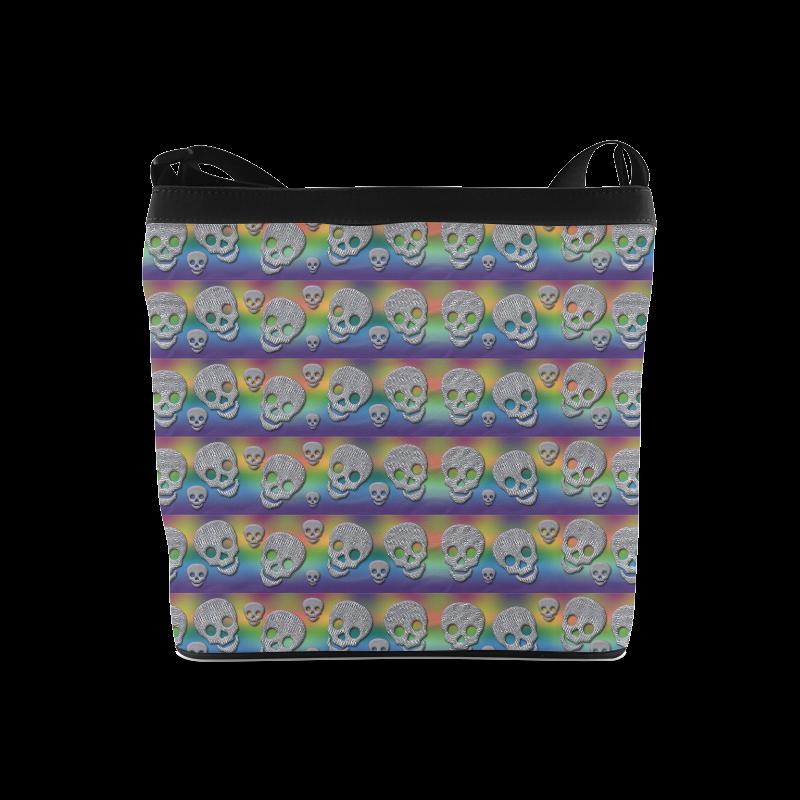 SKULLS MULTICOLOR Crossbody Bags (Model 1613)