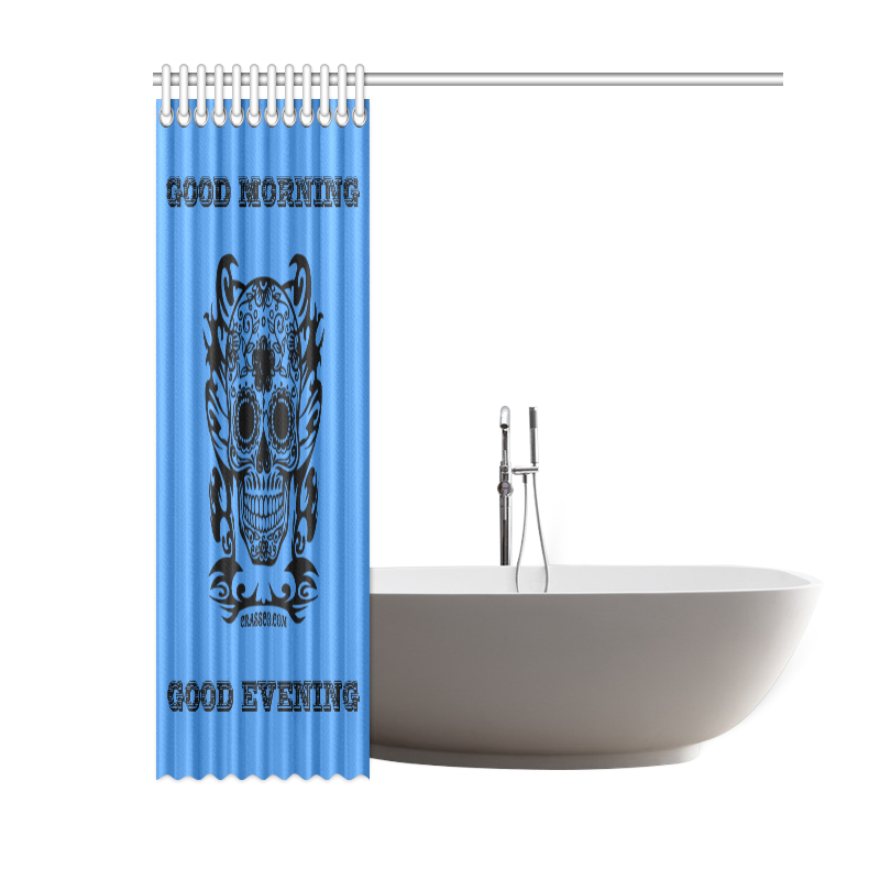 "SKULL BATH Shower Curtain 60""x72"""