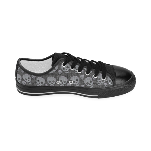 SKULLS EVOLUTION Women's Classic Canvas Shoes (Model 018)