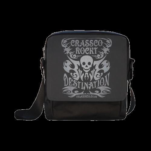 SKULL DESTINATION Crossbody Nylon Bags (Model 1633)