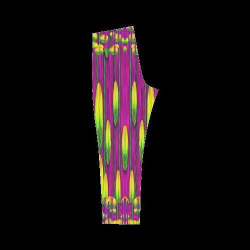 Tulips On Fire Capri Legging (Model L02)
