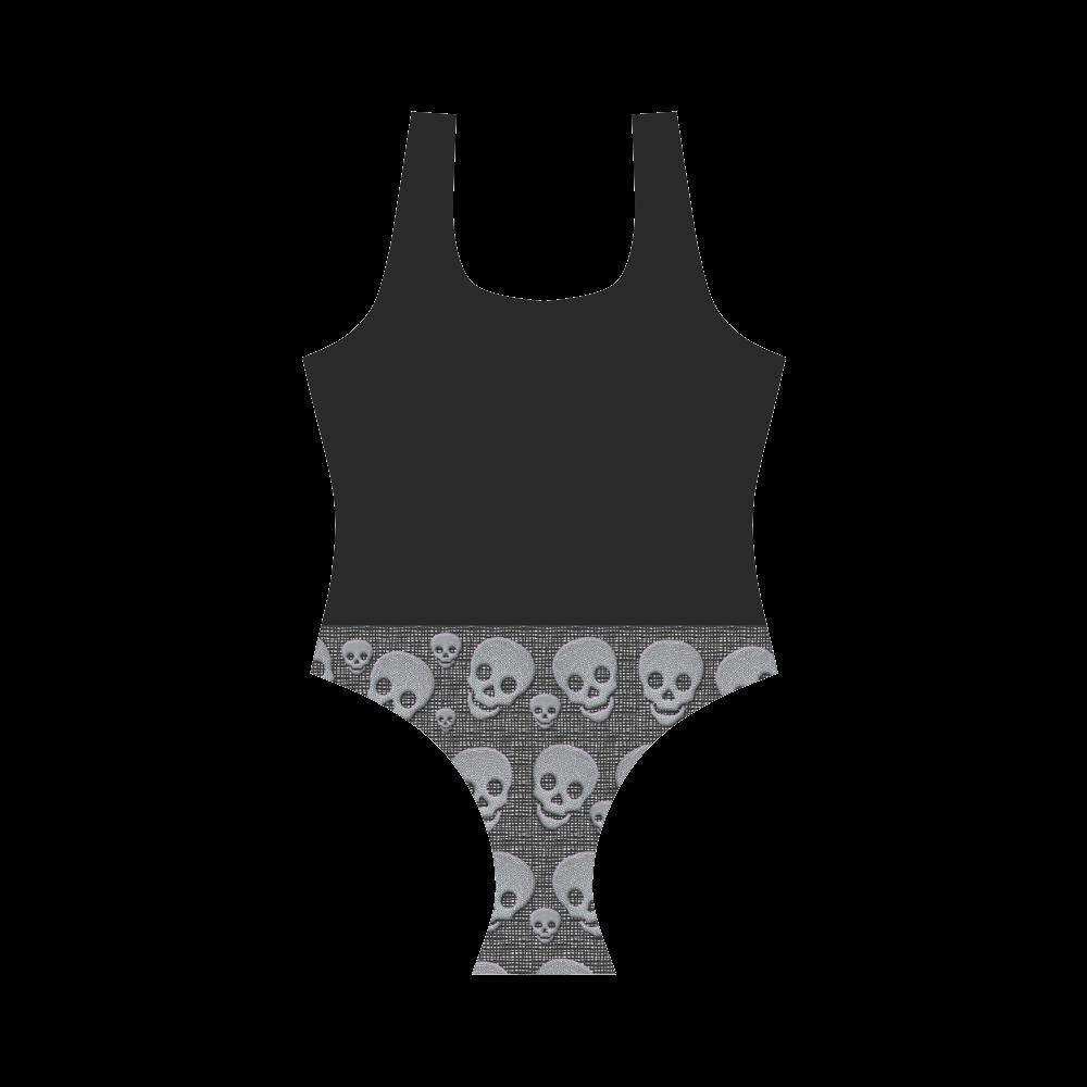 Skullsandblack Vest One Piece Swimsuit (Model S04)