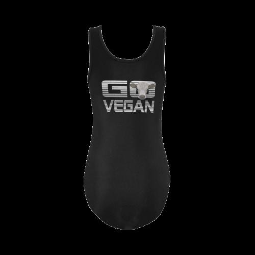 GO VEGAN CALF Vest One Piece Swimsuit (Model S04)