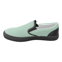 Grayed Jade Men's Unusual Slip-on Canvas Shoes (Model 019)