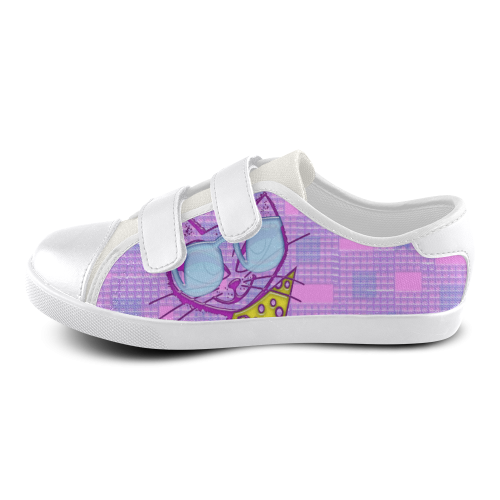 Cat Velcro Canvas Kid's Shoes (Model 008)
