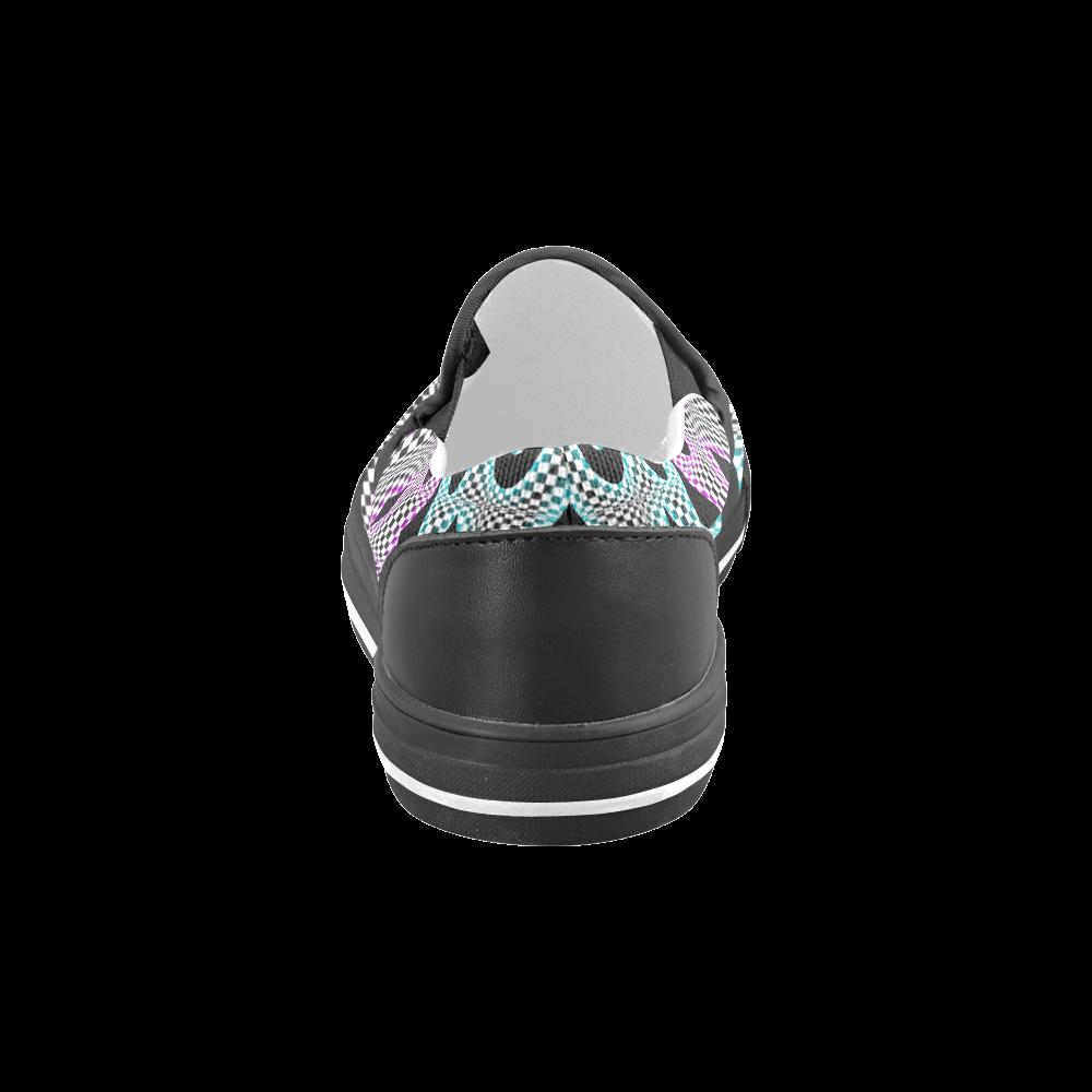 PARANOIA I Men's Slip-on Canvas Shoes (Model 019)