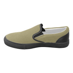 Green Moss Men's Unusual Slip-on Canvas Shoes (Model 019)
