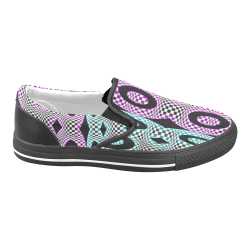 Paranoia Nr1 Men's Unusual Slip-on Canvas Shoes (Model 019)