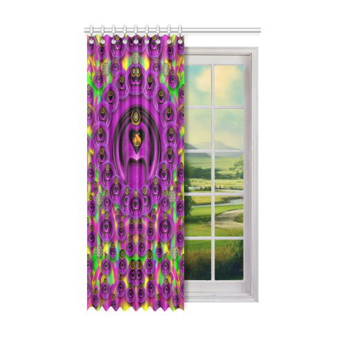 "love for the fruit and stars in the Milky Way Window Curtain 52"" x 84""(One Piece)"