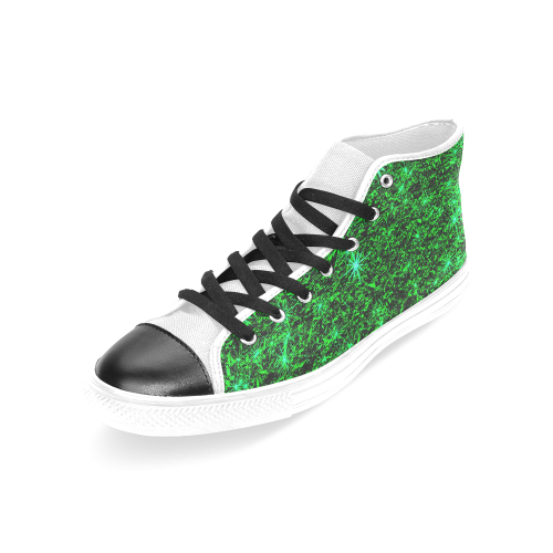 Sparkling Green - Jera Nour Women's Classic High Top Canvas Shoes (Model 017)