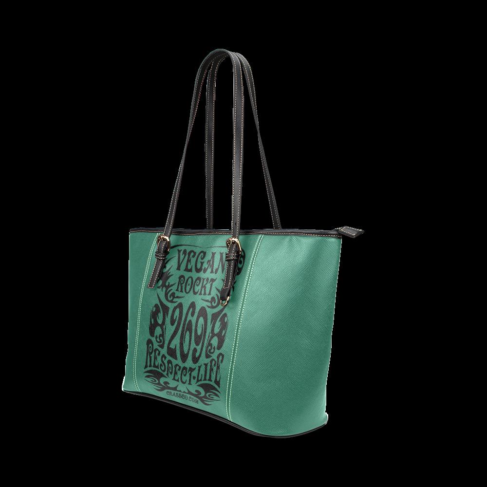 VEGAN ROCKT Leather Tote Bag/Small (Model 1640)