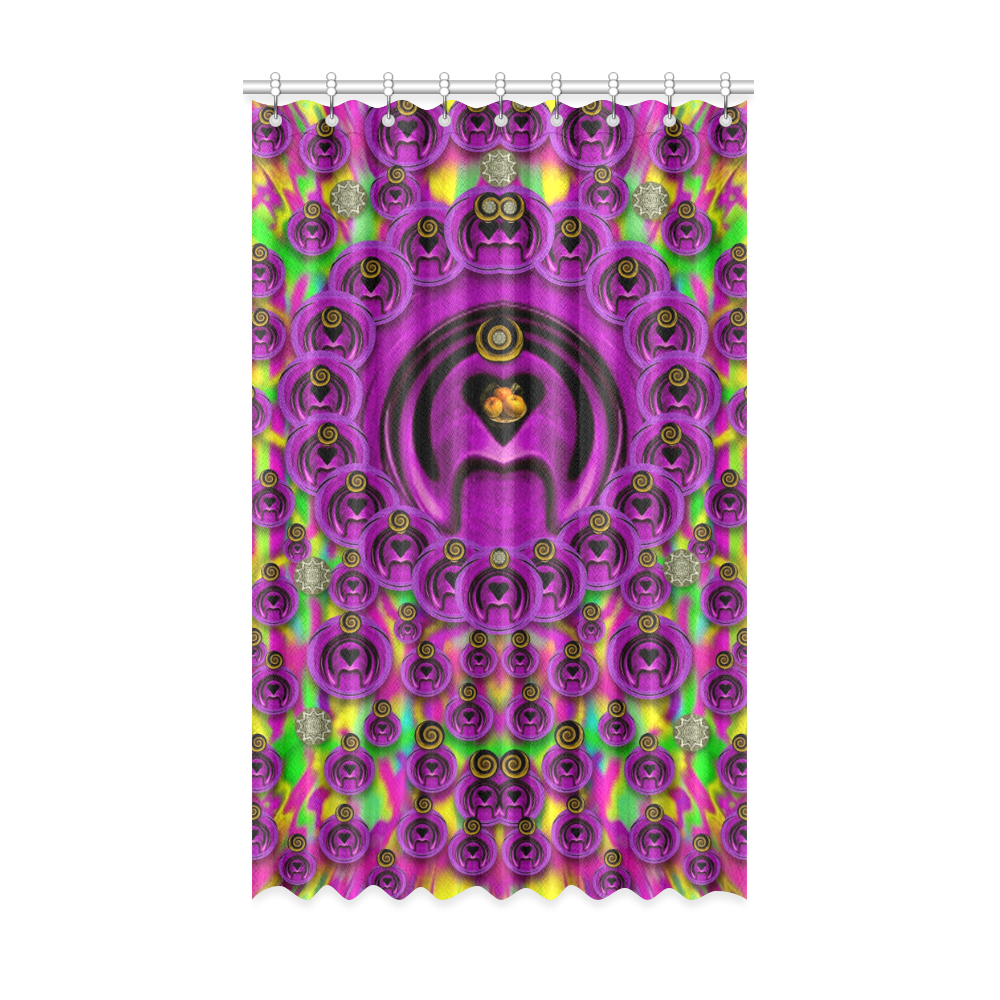 """love for the fruit and stars in the Milky Way Window Curtain 52"""" x 84""""(One Piece)"""