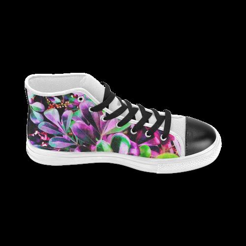 Foliage #3 - Jera Nour Women's Classic High Top Canvas Shoes (Model 017)