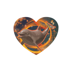 Jumping dolphin Heart-shaped Mousepad