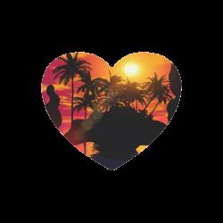Wonderful sunset Heart-shaped Mousepad