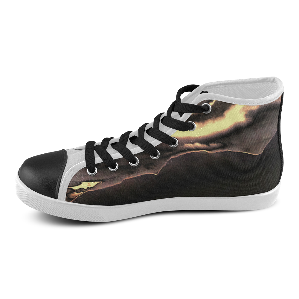 Blazing Portal - Jera Nour Women's High Top Canvas Shoes (Model 002)