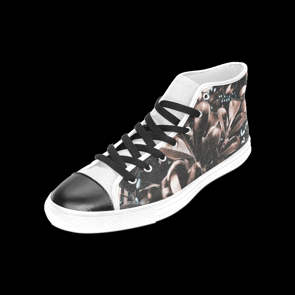 Foliage #5 - Jera Nour Women's Classic High Top Canvas Shoes (Model 017)