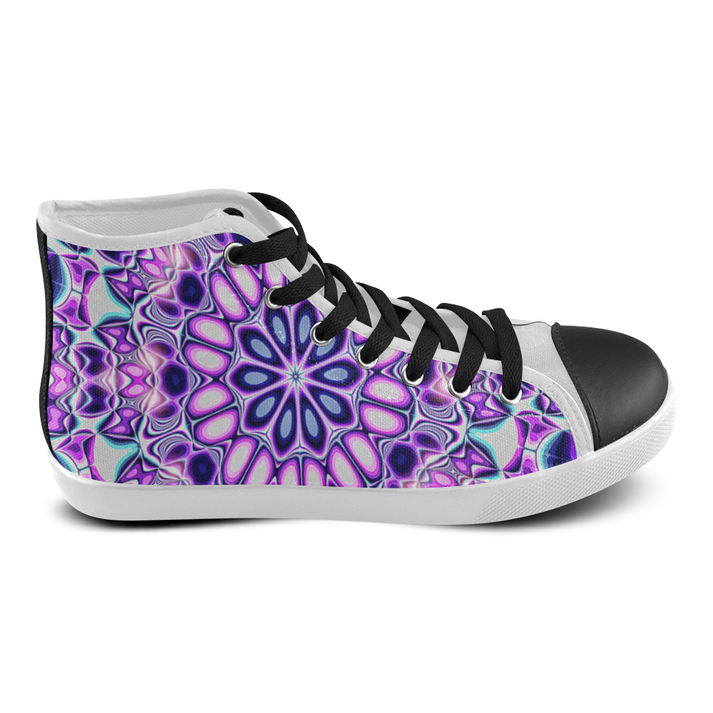 Blast-o-Blob #5 - Jera Nour Women's High Top Canvas Shoes (Model 002)