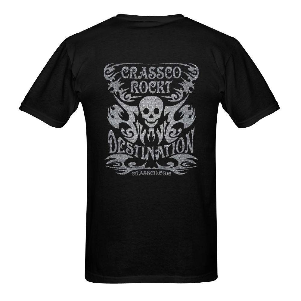 SKULL DESTINATION Men's T-Shirt in USA Size (Two Sides Printing)