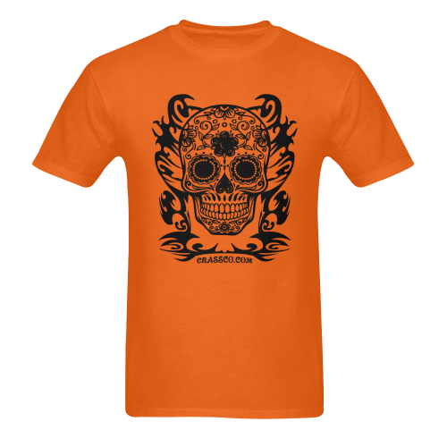 SKULL FLOWERS XIIII Men's T-Shirt in USA Size (Two Sides Printing)