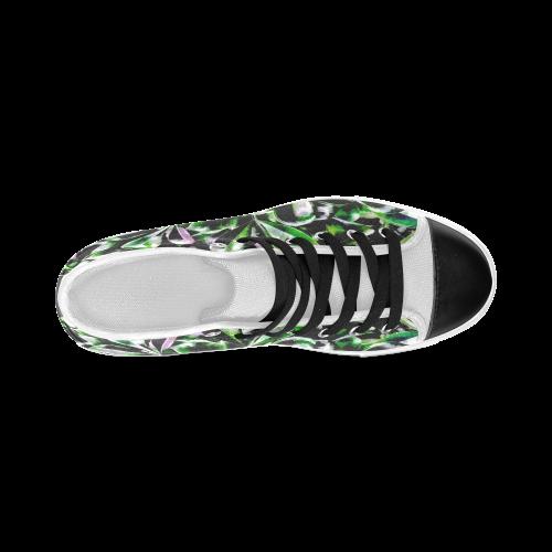Foliage #6 - Jera Nour Women's Classic High Top Canvas Shoes (Model 017)