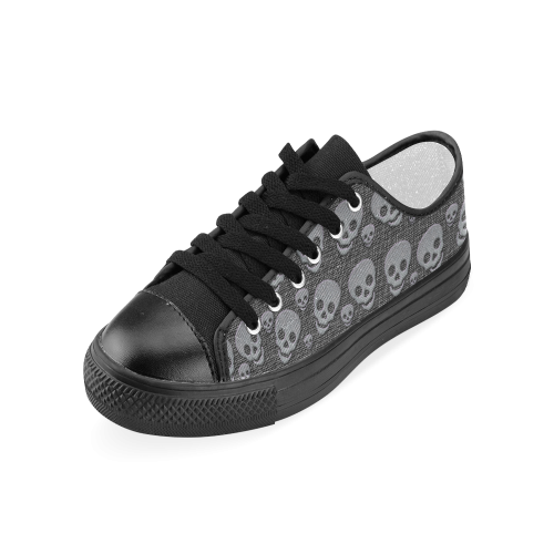 SKULLS EVOLUTION Women's Classic Canvas Shoes (Model 018)
