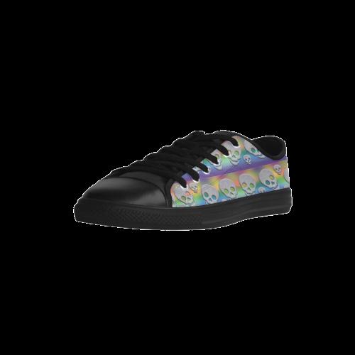 SKULLS MULTICOLOR Aquila Microfiber Leather Women's Shoes (Model 028)