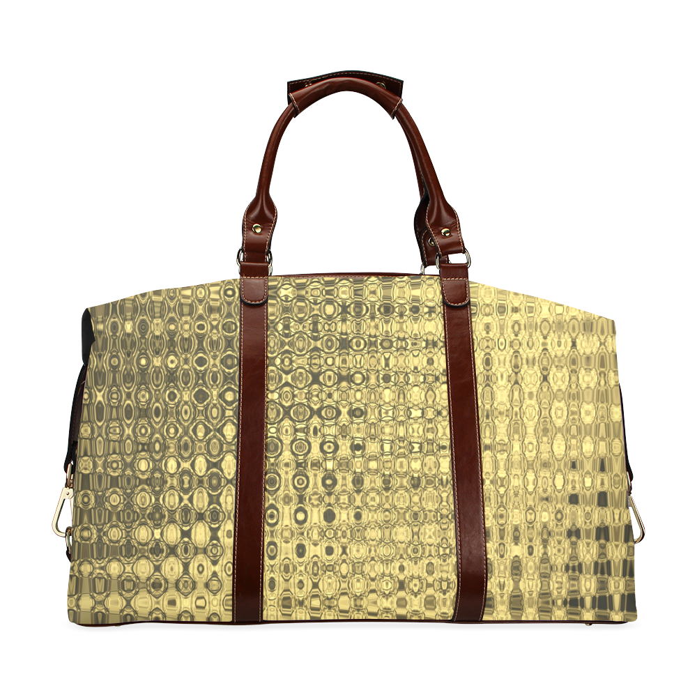 GOLD LUXURY TEXTURE Classic Travel Bag (Model 1643)