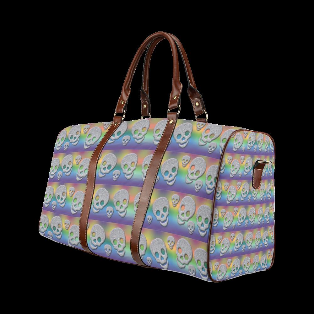 SKULLS MULTICOLOR Waterproof Travel Bag/Large (Model 1639)