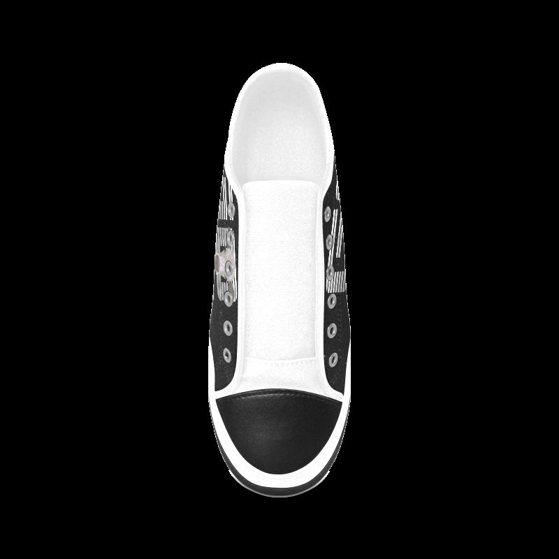 GO VEGAN CALF Women's Canvas Zipper Shoes (Model 001)