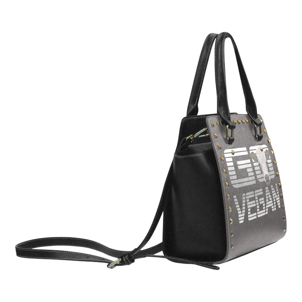 GO VEGAN CALF LUXURY Rivet Shoulder Handbag (Model 1645)