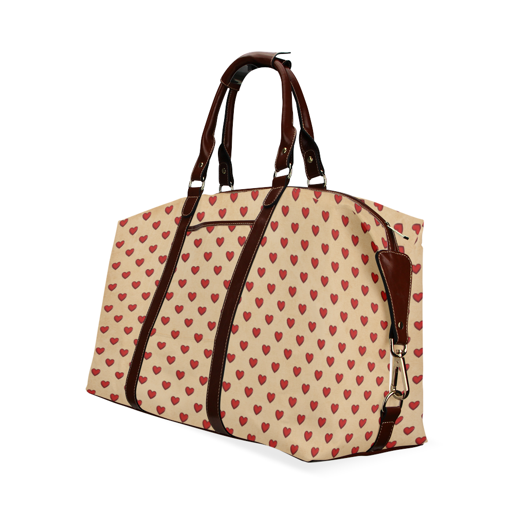 RETRO HEARTS Classic Travel Bag (Model 1643)