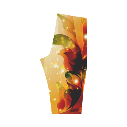 Awesome abstract flowers Hestia Cropped Leggings (Model L03)