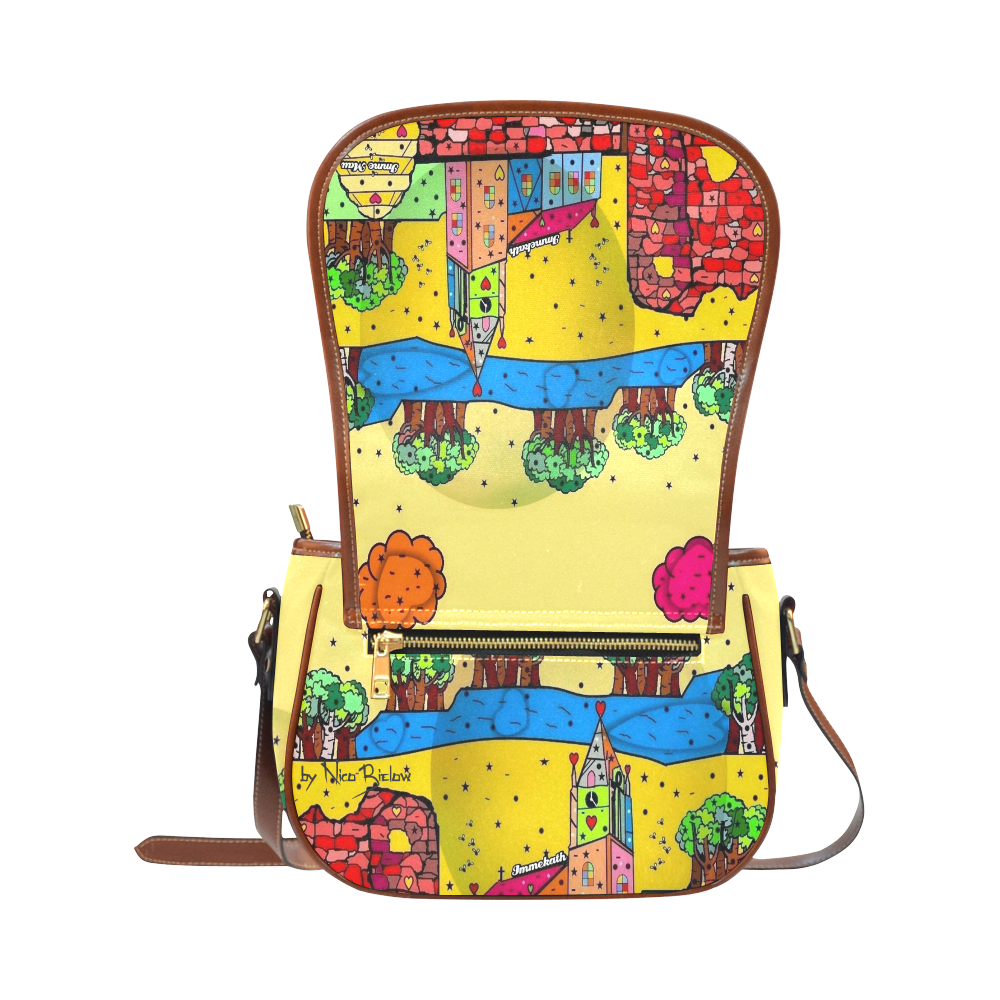 Immekath by Nico Bielow Saddle Bag/Small (Model 1649) Full Customization
