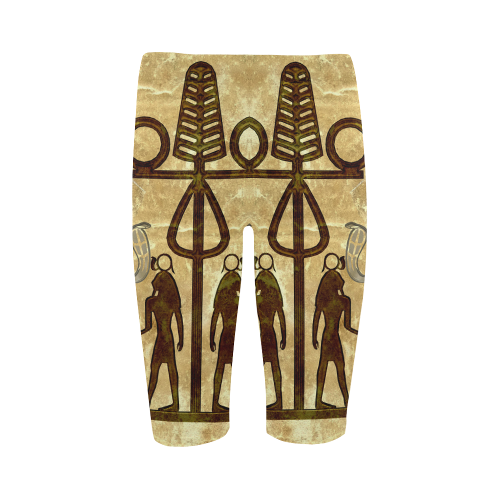 Egyptian sign Hestia Cropped Leggings (Model L03)