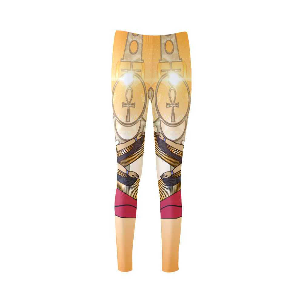 Beautiful Isis with egyptian sign Cassandra Women's Leggings (Model L01)
