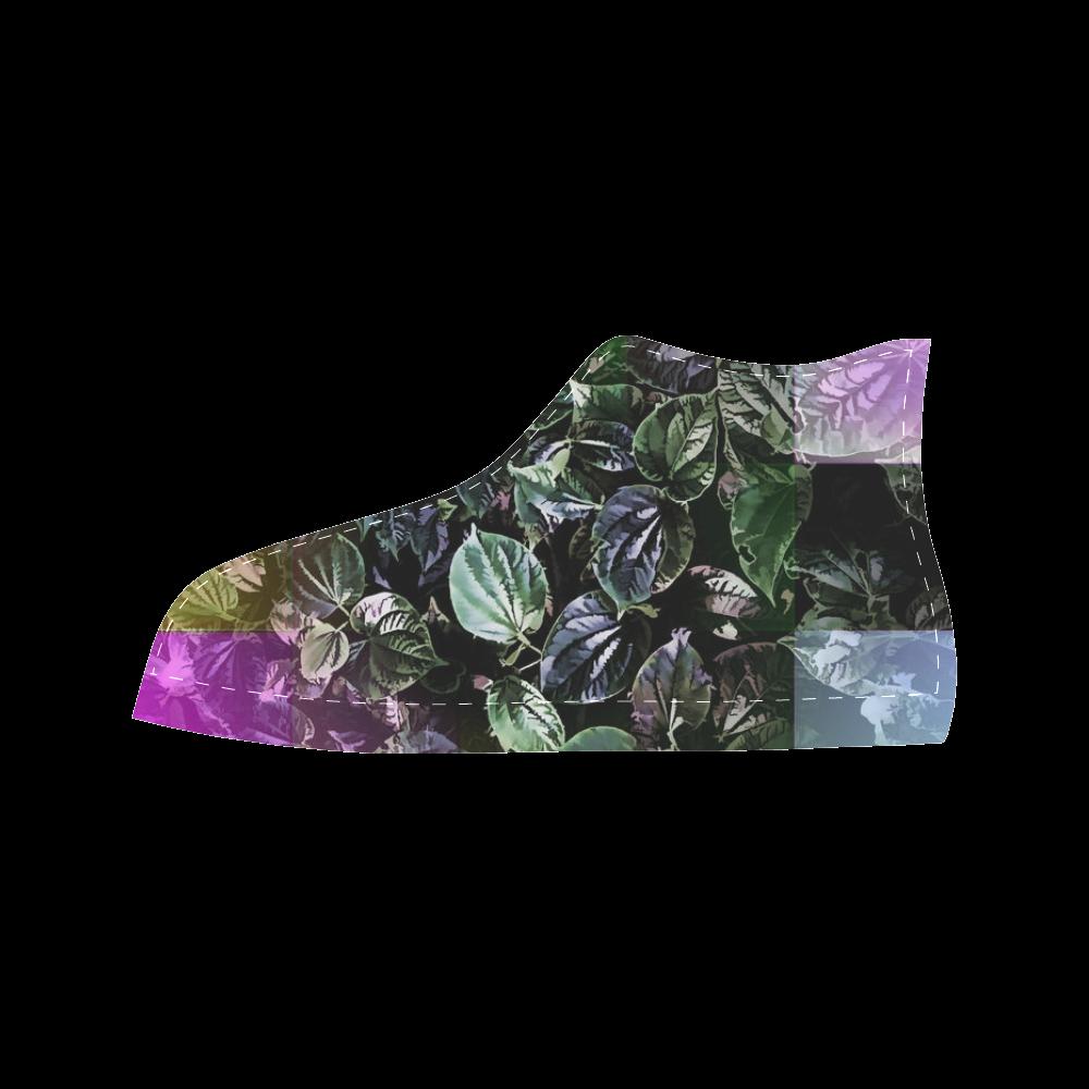 Foliage Patchwork #13 - Jera Nour Aquila High Top Microfiber Leather Men's Shoes (Model 027)
