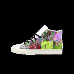 Foliage Patchwork  #12 - Jera Nour Aquila High Top Microfiber Leather Men's Shoes (Model 027)