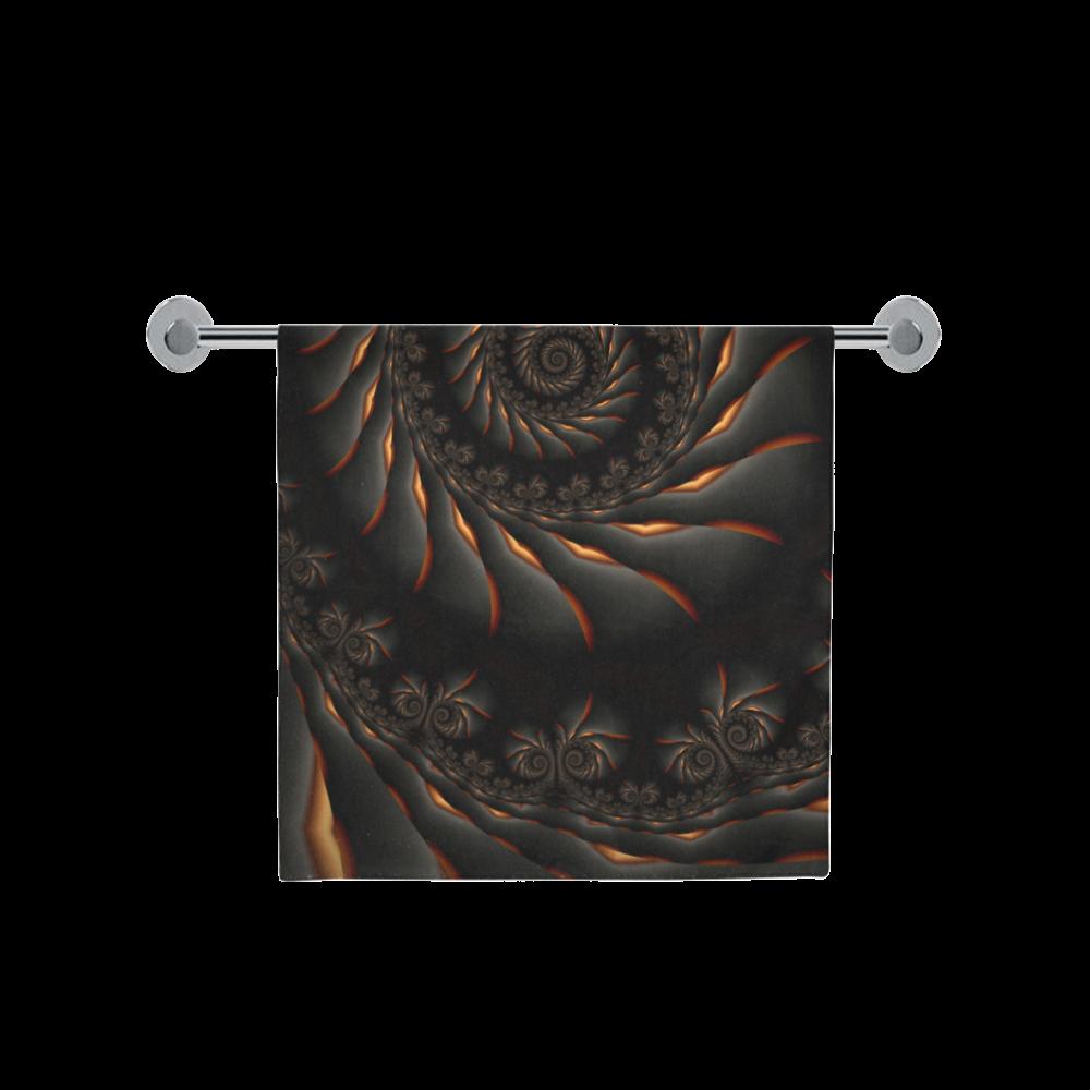 "Decorative Black Spiral Fractal Bath Towel 30""x56"""