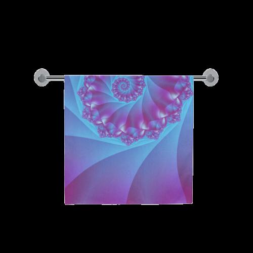 "Purple and Blue Spiral Fractal Bath Towel 30""x56"""