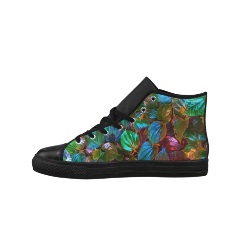 Foliage Patchwork #10 - Jera Nour Aquila High Top Microfiber Leather Men's Shoes (Model 027)