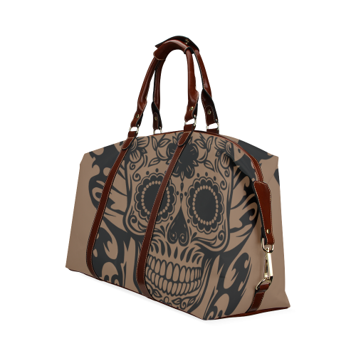SKULL FLOWERS Classic Travel Bag (Model 1643)