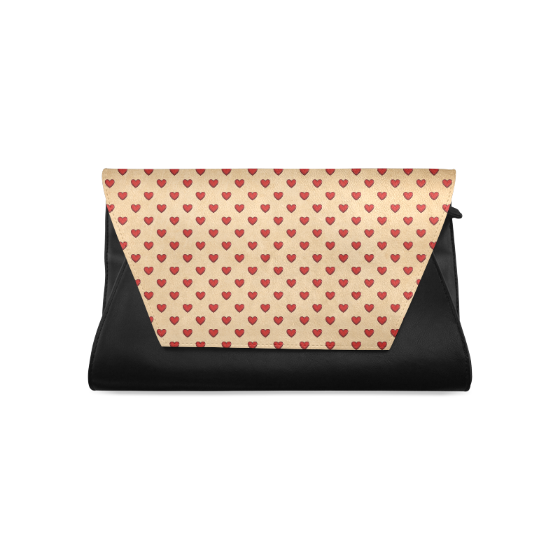 RETRO HEARTS Clutch Bag (Model 1630)