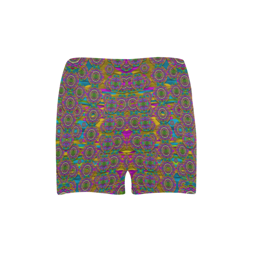 Peacock eyes in a contemplative style Briseis Skinny Shorts (Model L04)