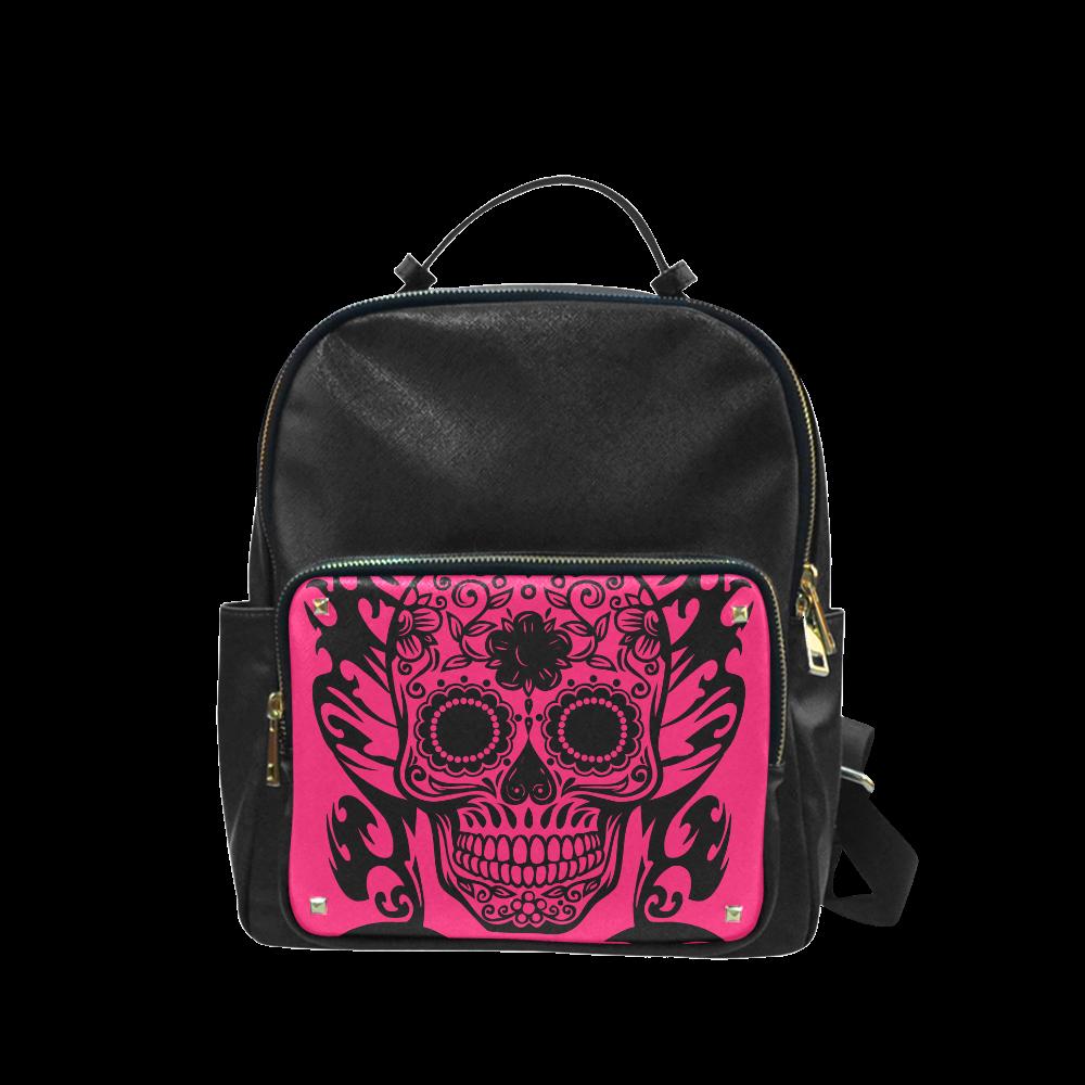 SKULL ON PINK Campus backpack/Large (Model 1650)