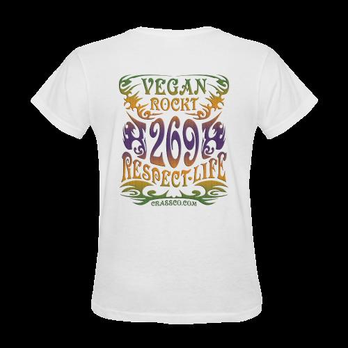 VEGAN ROCKT PLUS Sunny Women's T-shirt (Model T05)